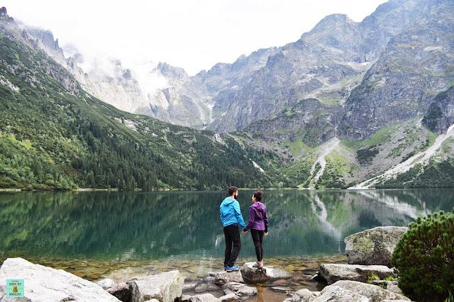 Lago Morskie Oko en Tatras, Polonia
