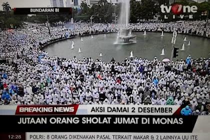 Sholat Jumat Terbesar Dalam Sejarah Indonesia! JUTAAN Lautan Massa AKSI 212 Sholat JUMAT di MONAS