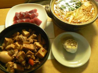 今日の夕食+煮込み