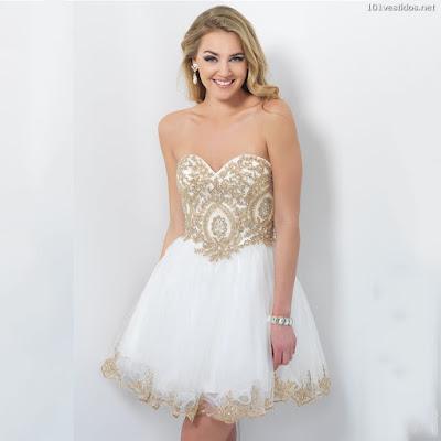 Vestidos Blancos con Dorado