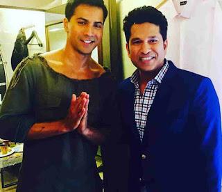 Varun Dhawan With Sachin Tendulkar