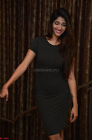 Priya Vadlamani super cute in tight brown dress at Stone Media Films production No 1 movie announcement 038.jpg