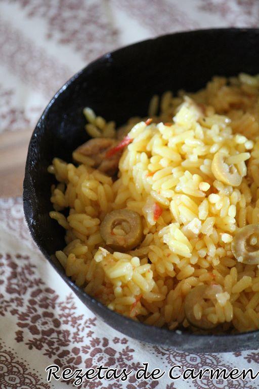 Arroz con pavo al curry