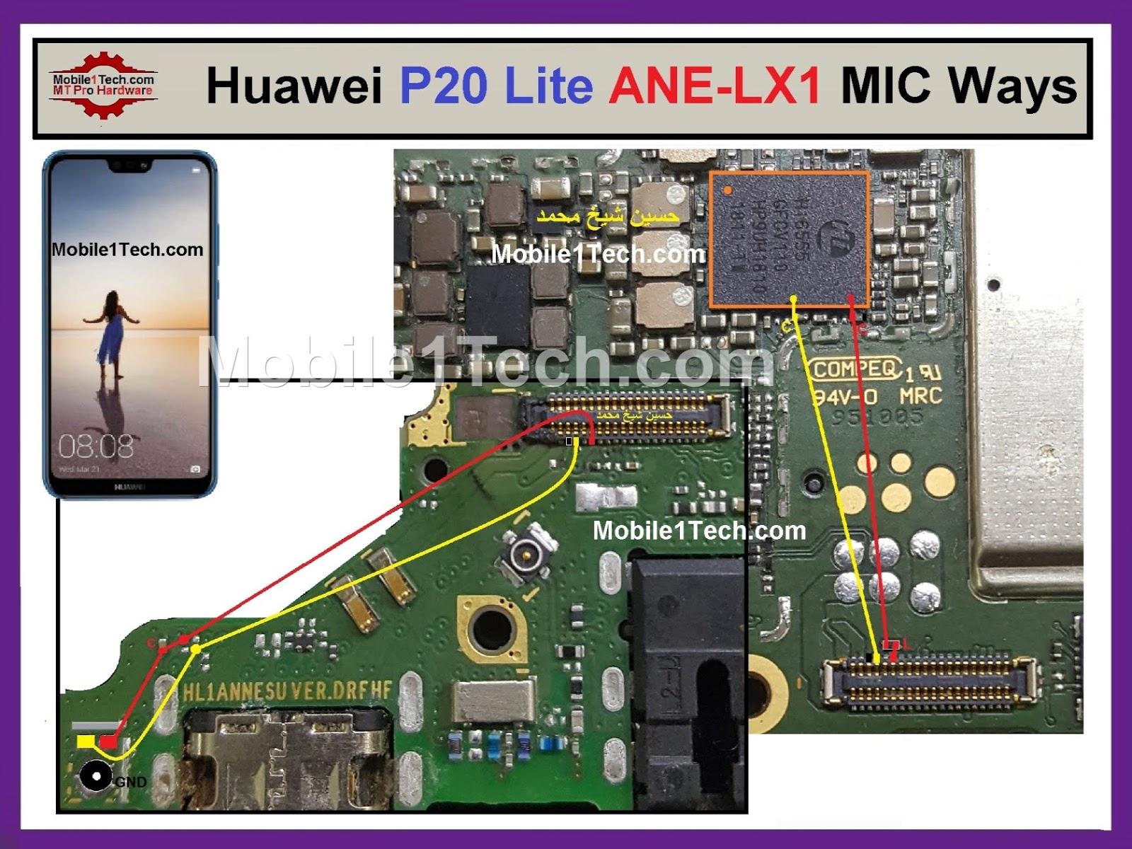 Huawei P20 Lite MIC Ways