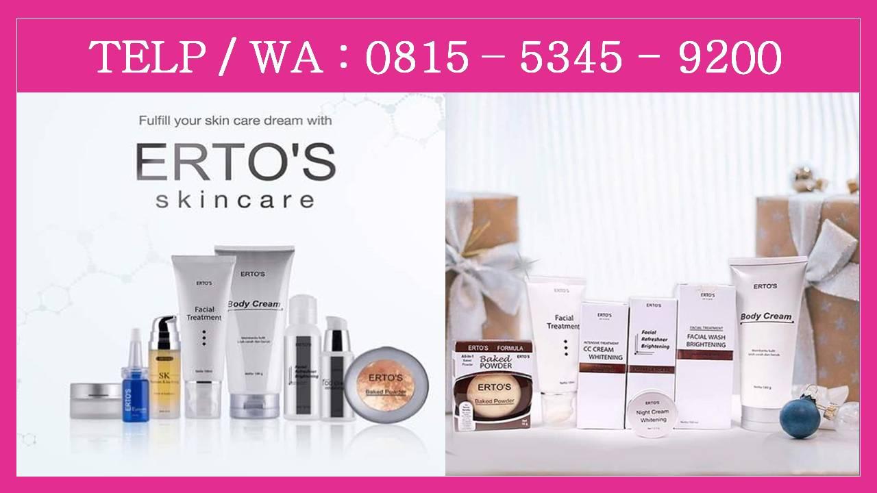 0815 5345 9200 Distributor Ertos Kosmetik Facian Treatment Resmi Jual Asli Facial