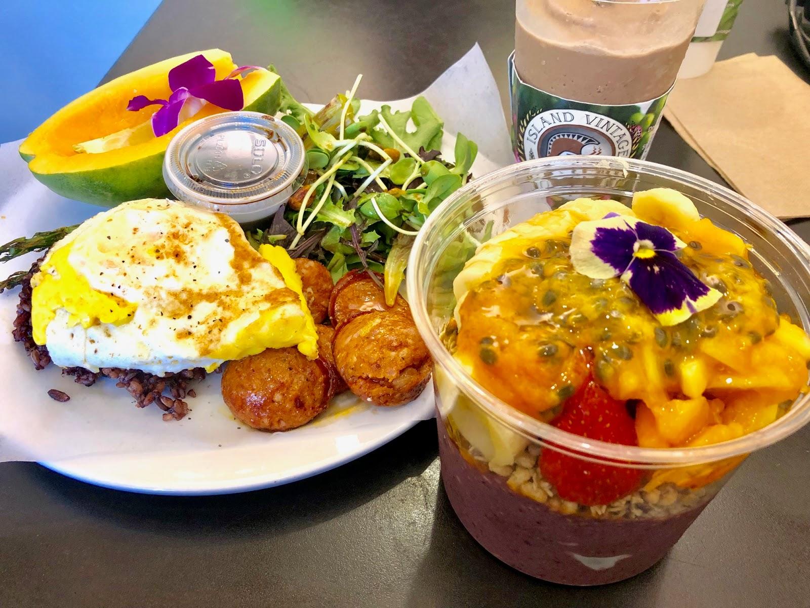 Island Vintage Coffee Maui Review Breakfast