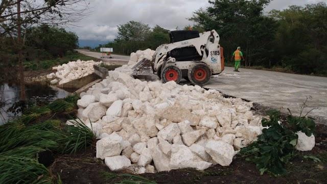 "TRABAJA SCT PARA REHABILITAR LAS CARRETERAS AFECTADAS POR LA TORMENTA TROPICAL ""CRISTÓBAL"""