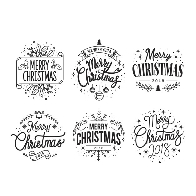 Free Christmas Greetings pack vector