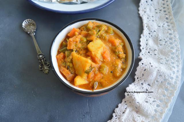 Mixed Vegetable Gravy | Mixed Vegetable Kurma