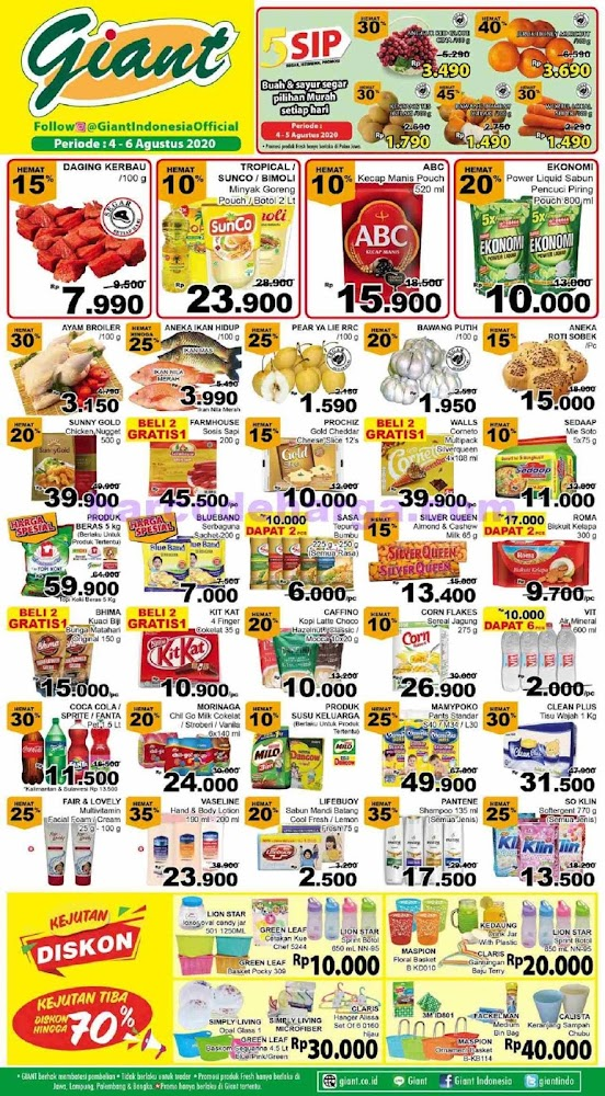 Katalog Promo Jsm Giant Akhir Pekan 27 29 November 2020 Barcodeharga Harga Promo Alfamart Indomaret Giant Hypermart Superindo Lottemart Carrefour