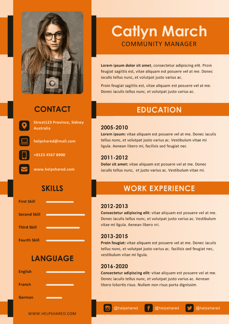 creative illustrated cv-resume template
