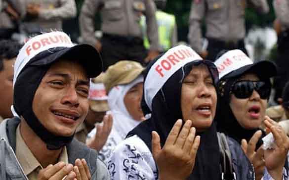 Guru Honorer di Daerah Tunggu Janji Kampanye Jokowi Diangkat PNS