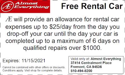 Coupon Free Rental Car October 2021