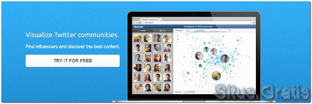 Bluenod membantu Anda memvisualisasikan komunitas Twitter