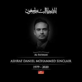 Ashraf Sinclair suami Bunga Citra Lestari meninggal serangan jantung