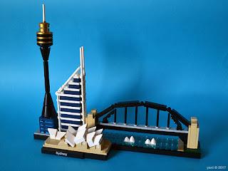 lego architecture sydney - the finished build