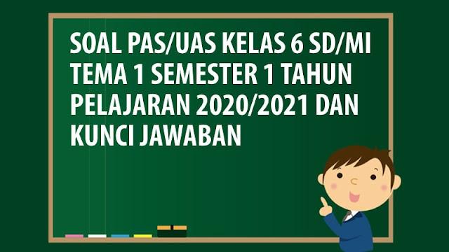 Soal PAS/UAS Kelas 6 SD/MI Tema 1 Semester 1 Tahun 2020