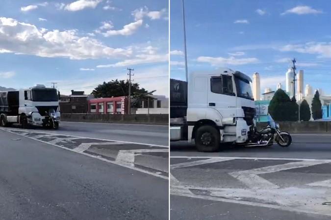 Caminhoneiro que arrastou moto por mais de 30 km é indiciado por tentativa de homicídio