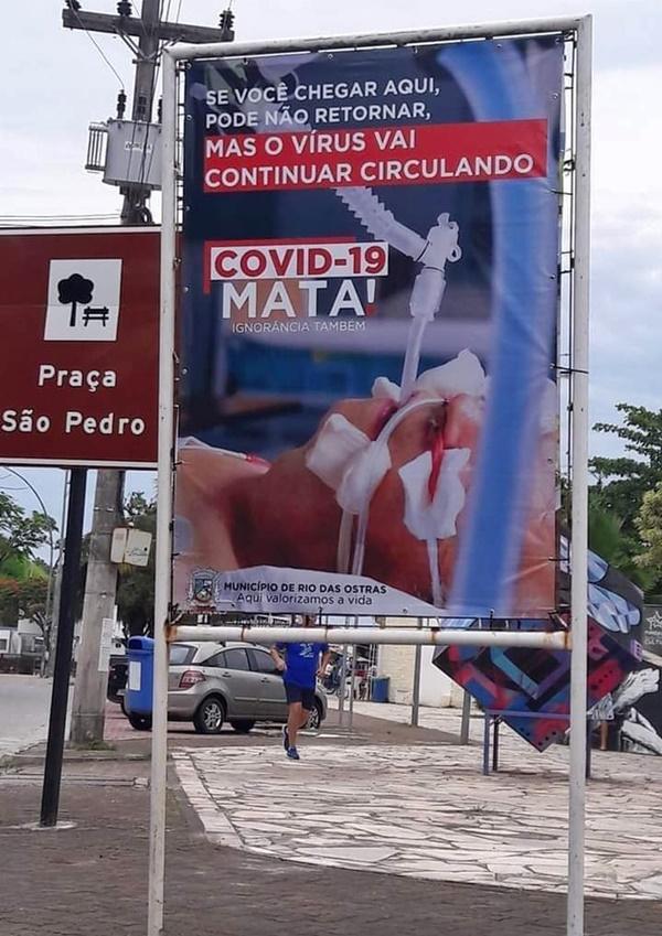 Prefeitura lança campanha impactante para chamar a atenção sobre o aumento de casos de Covid-19 em Rio das Ostras