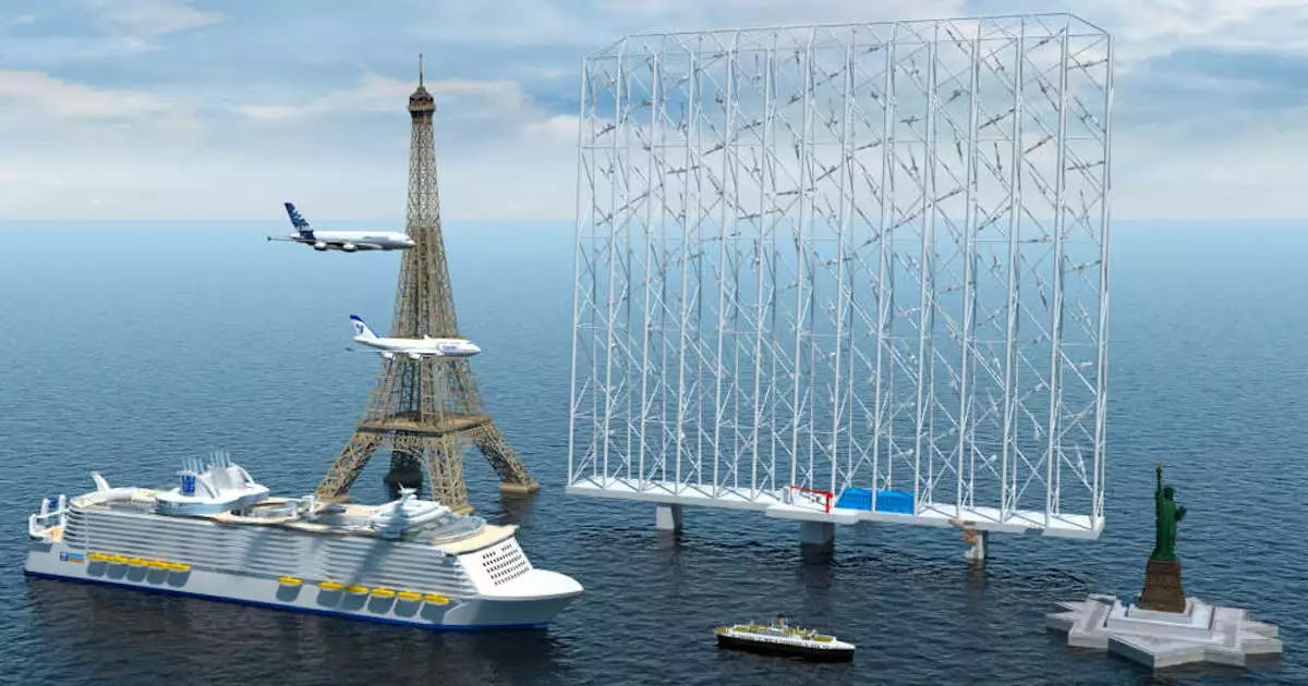 Wind-Power Structure Larger Than The Eiffel Tower Will Be Able To Power 80,000 Homes