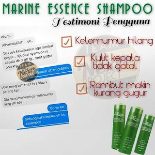 Kelemumur Hilang dengan shampoo marine essence