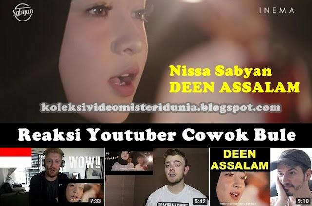 nissa sabyan deen assalam reaksi bule youtube reaction