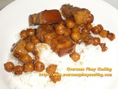 Pork Adobo with Garbanzos Rice