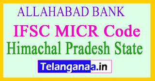 ALLAHABAD BANK IFSC MICR Code Himachal Pradesh
