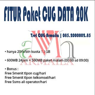 CUG DATA 20K 1.1GB 20.000 Perbulan