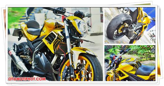 Gambar Modifikasi Motor Vixion Street Fighter