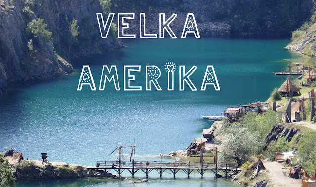 Velka America/Czech Grand Canyon in summer, on a sunny day