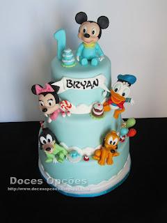 Bolo de aniversário bebé Disney