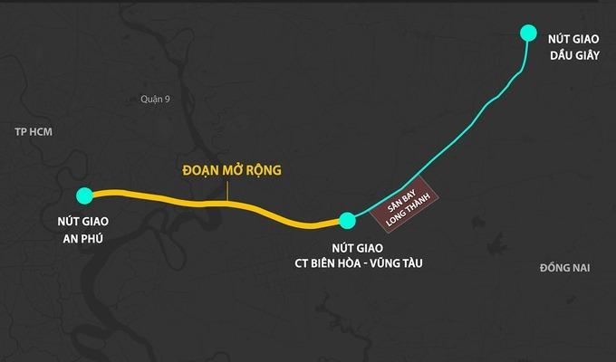 Lập báo cáo khả thi mở rộng cao tốc TP HCM - Long Thành - Dầu Giây - Ảnh 1