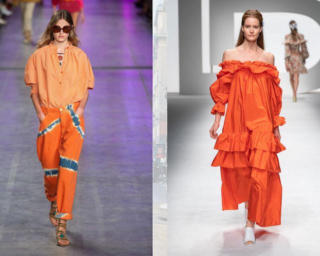 одежда в сочном оранжевом цвете 1