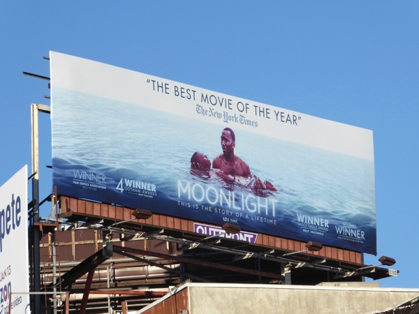 Moonlight Best movie of the year billboard