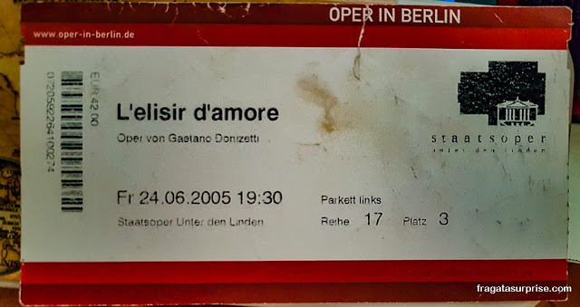 Ingresso para a Staatsoper de Berlim