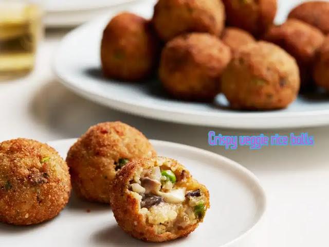 Chopped Veggie Balls   Crispy veggie rice balls make at home