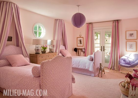 Shannon Bowers pink girls bedroom