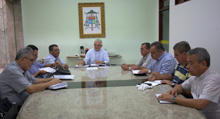 Dom Nelson se Reuni com os integrantes do Colégio de Consultores da Arquidiocese da Paraíba