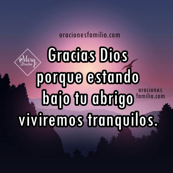 oracion dormir tranquilos gracias a Dios oracion de la noche corta de protección Salmo 91