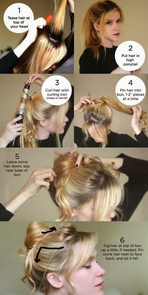 8 penteados de festa - Coque despojado com franja