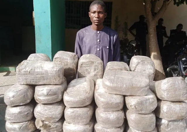 A 21-year-old man,Mother and Uncle arrested with 49 packages of Indian hemp