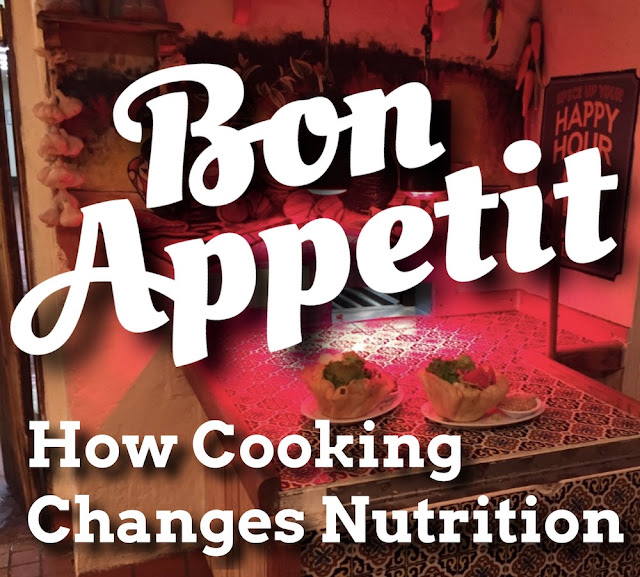 nutrition changes through cooking food eating