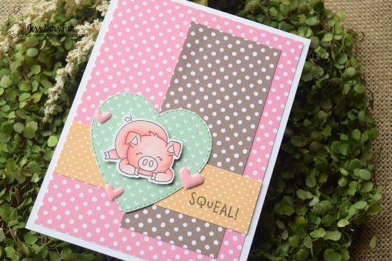 Squeal by Jess features Oink and Darling Hearts by Newton's Nook Designs; #newtonsnook