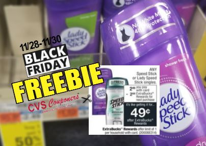 free speed stick black friday cvs couponers