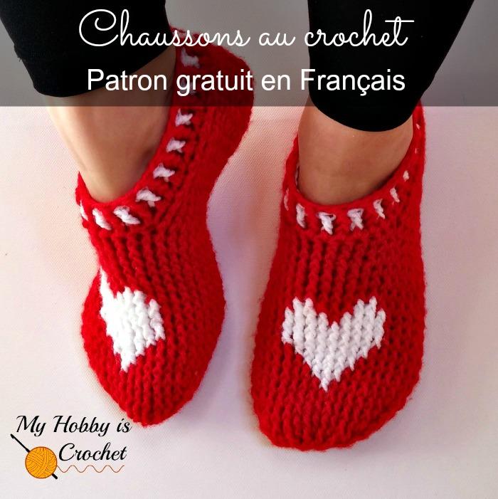 Chaussons rouge au crochet - Patron Gratuit en Français