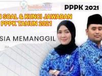 Kumpulan Soal dan Kunci Jawaban Tes PPPK Tahun 2021