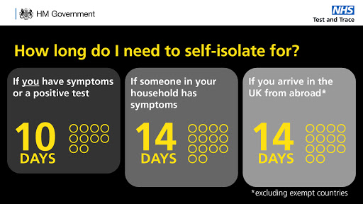 How long to I need to isolate for in the UK