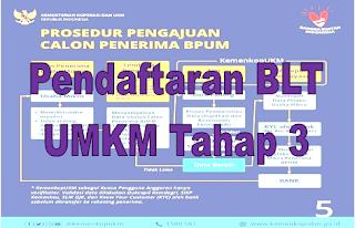 Pendaftaran BLT UMKM Tahap 3