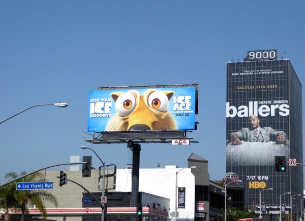 Ice Age 5 movie billboard Sunset Strip